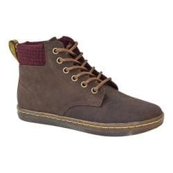 Women's Dr. Martens Maelly Padded Collar Boot Dark Brown Wyoming/Oxblood/Black Micro Check Wool