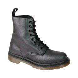 Women's Dr. Martens Pascal 8-Eye Boot Black Crackle Suede