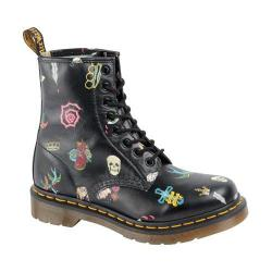 Women's Dr. Martens Pascal 8-Eye Boot Black Skins Tattoo Softy T