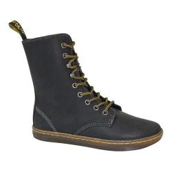 Women's Dr. Martens Tehani 9-Tie Fold Down Boot Black Wyoming