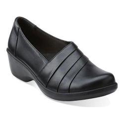 Women's Clarks Esha Essy Slip-On Black Leather