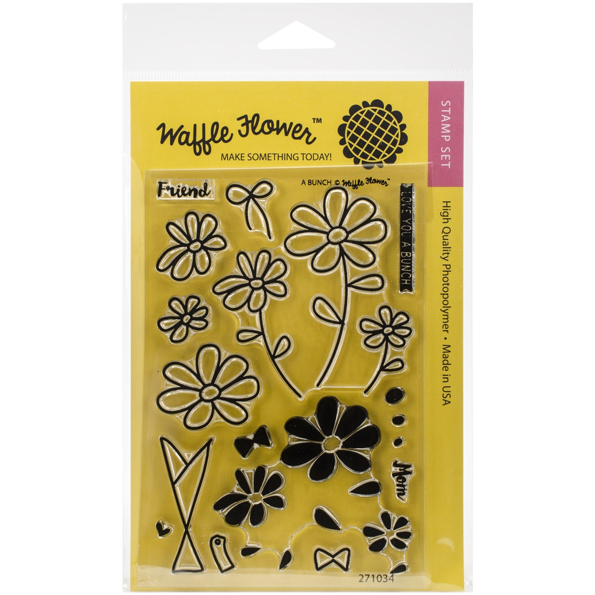Waffle Flower Crafts Clear Stamps 4inX6inA Bunch