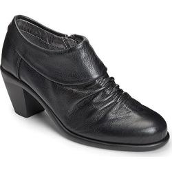 Women's Aerosoles Lock N Key Bootie Black Leather