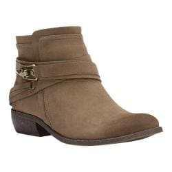 Women's Fergalicious Midas Ankle Boot Taupe Faux Suede
