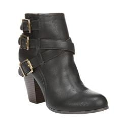 Women's Fergalicious Rizzo Bootie Black Synthetic Leather