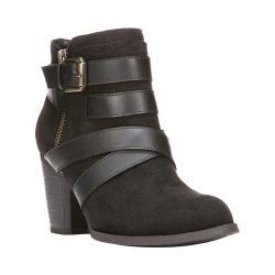 Women's Fergalicious Tanner Ankle Boot Black Faux Suede