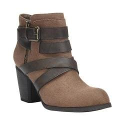 Women's Fergalicious Tanner Ankle Boot Taupe Faux Suede