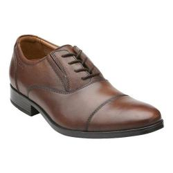 Men's Clarks Kalden Cap Brown Leather