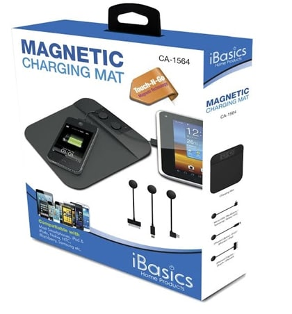 iBasics Magnetic Charging Mat for Micro USB and Apple Devices