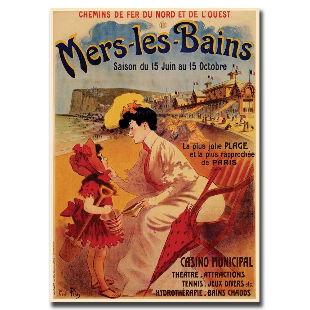 Vintage Art 'Mers les Bains' Canvas Wall Art