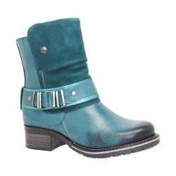 Women's Dromedaris Kikka Biker Boot Teal Leather