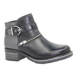 Women's Dromedaris Kristina Ankle Boot Black Metallic Leather