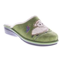 Women's Flexus by Spring Step Antares Slipper Green Micro Suede