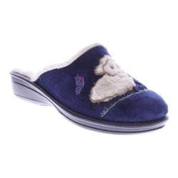 Women's Flexus by Spring Step Antares Slipper Navy Micro Suede
