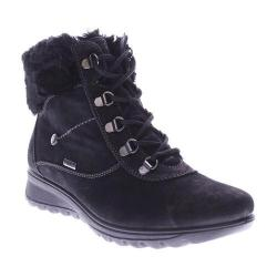 Women's Flexus by Spring Step Barra Boot Black Nubuck Leather