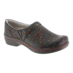 Women's Klogs Mission Clog Multi Dot Leather