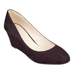 Women's Nine West Ispy Wedge Dark Brown Suede