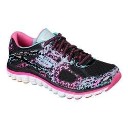 Women's Skechers Ascent Glowstick Training Shoe Black/Multi