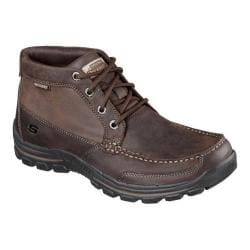 Men's Skechers Relaxed Fit Braver Fabio Lace Up Boot Dark Brown