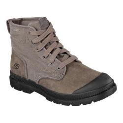 Men's Skechers Relaxed Fit Milton Silvio Lace Up Boot Gray
