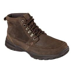 Men's Skechers Relaxed Fit Vorlez Mateus Lace Up Boot Dark Brown