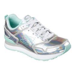 Girls' Skechers Retrospect Irridazzling Sneaker Silver/Aqua
