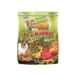 Trop Carnival Natural Rabbit Food 4lb 6pc