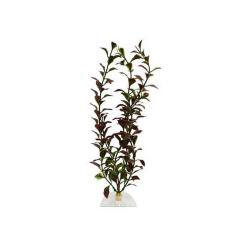 """Aquaflora Plastic Plant 12"""" Red Ludwigia"""