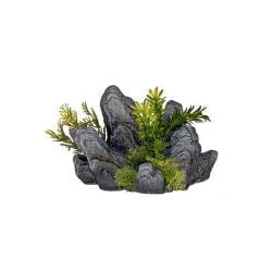 Rock Out Cropping With Gree Plants 8 X 4.5 X 5