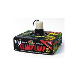 "Clamp - lamp W/porcelain Socket 8.5"" (black)"
