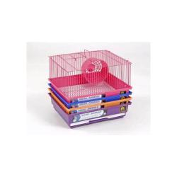 1 Story Pastel Bar Hamster Cage (4pc)