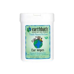 Earth Bath Ear Wipes For Dogs 25ct