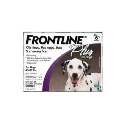 Frontline Plus Purple 45 - 88 Lbs. (lg) 6pk