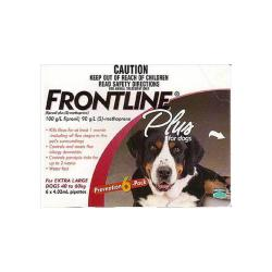 Frontline Plus Red 89 - 132 Lbs. Xlg 6pk
