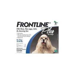 Frontline Plus Blue 23 - 44 Lb Med 6pk