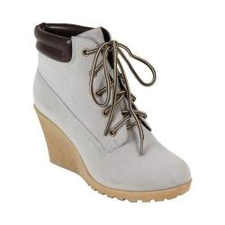 Women's Reneeze Cherry-3 Wedge Boot Grey Synthetic