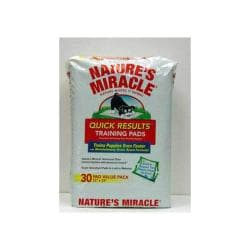 Nature's Miracle Quick Results Training Pads 30 Count 6 Per Case