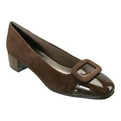 Women's David Tate Retro Brown Suede/Brown Patent