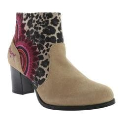 Women's Desigual Cris 12 Ankle Boot Beige Tumbuctu