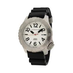 Men's Momentum Watch Torpedo Rubber Watch White/Black Rubber