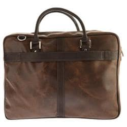 Piel Leather Vintage Laptop Brief 2972 Vintage Brown Leather