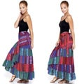 Women's Layered Long Gypsy Wrap Skirt (India)