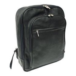 Piel Leather Front Pocket Computer Backpack 2362 Black Leather