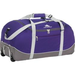 High Sierra Wheel-N-Go Purple/Charcoal 24-inch Rolling Duffel Bag