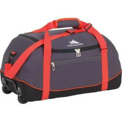 High Sierra Wheel-N-Go Mercury/Black 24-inch Rolling Duffel Bag