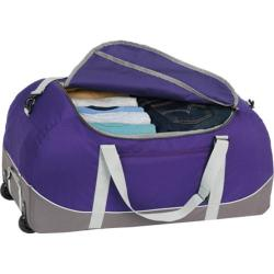 High Sierra Wheel-N-Go Deep Purple/Charcoal 30-inch Duffel Bag