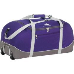High Sierra Wheel-N-Go Deep Purple/Charcoal 36-inch Rolling Duffel Bag