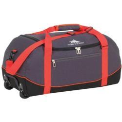 High Sierra Wheel-N-Go Mercury/Black 36-inch Rolling Duffel Bag