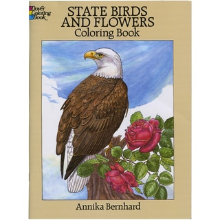 Dover Publications-State Birds & Flowers Coloring Book