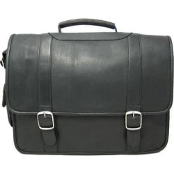 David King Leather 119 Porthole Computer Briefcase Black